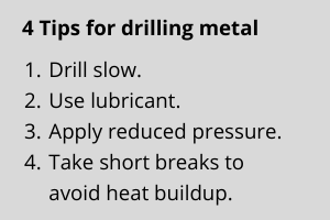 4 tips for drilling metal